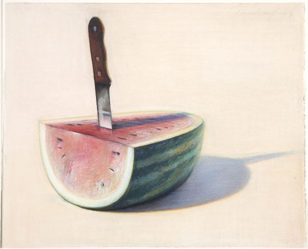 Wayne Thiebaud - Watermelon Slice and Knife