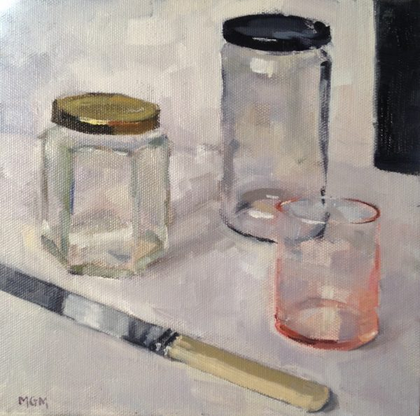 Madeline Morrow - Still Life with Jars and Knife
