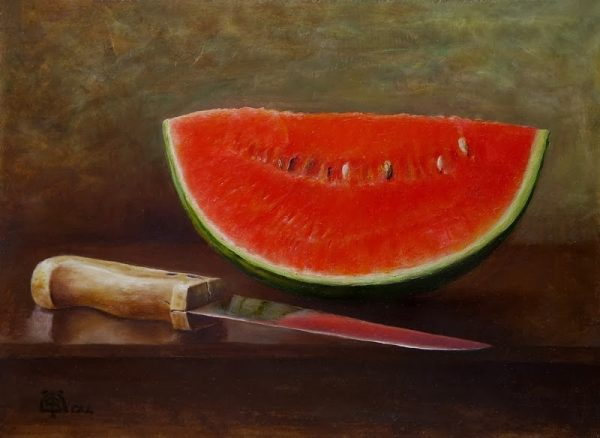 Şenol Özdemir - Watermelon slice and knife